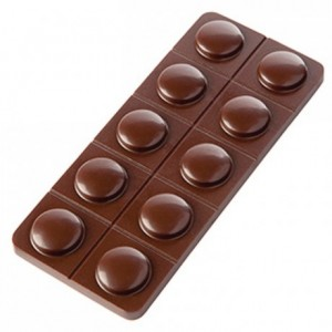 Chocolate mould polycarbonate 5 mini bars capsulo