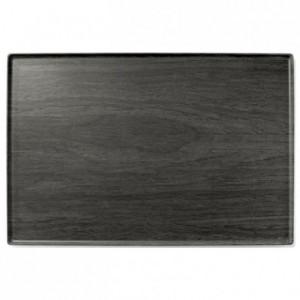 Elm wood platter melamine 400 x 300 mm