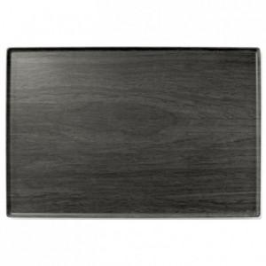 Elm wood platter melamine 600 x 400 mm
