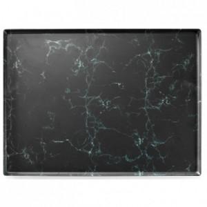 Marble platter melamine 400 x 300 mm