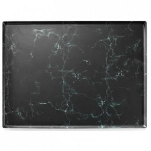 Marble platter melamine 600 x 400 mm