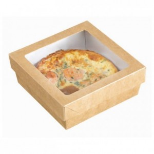Square box with window cover 110 x 110 mm (200 pcs)