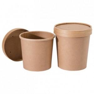 Pot à soupe Nature avec couvercle 47 cL (lot de 500)