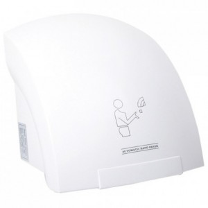 Wall mounted hand dryer ABS white