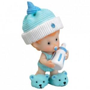 Bébé bonnet bleu debout (lot de 4)