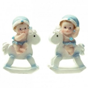 Blue baby on horseback (6 pcs)