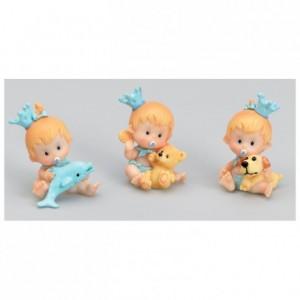 Bébé jouet bleu (lot de 6)