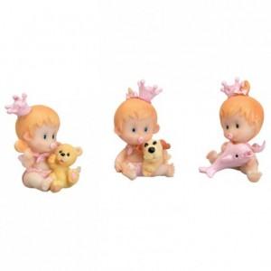 Bébé jouet rose (lot de 6)
