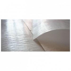 Feuille azyme striée pour nougats et calissons 320 x 230 mm (lot de 50)