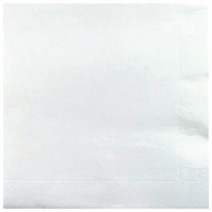 Serviette Airlaid blanc 40 x 40 cm (lot de 600)