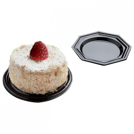 Mini-plate black octogonal Ø 85 mm (125 pcs)