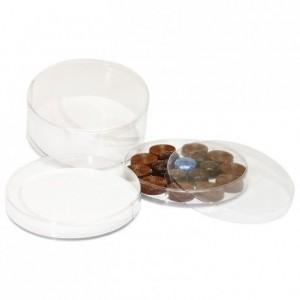 Boite ronde rhodoid Ø 160 x 65 mm (lot de 5)