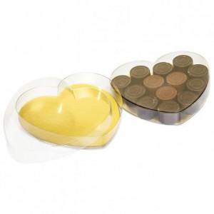 Boite coeur rhodoid Ø 130 mm (lot de 10)