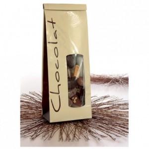 Clip métallisé argent pour sachet SOS chocolat (lot de 1000)