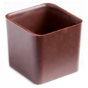 Moule 24 carrés haut en polycarbonate pour chocolat