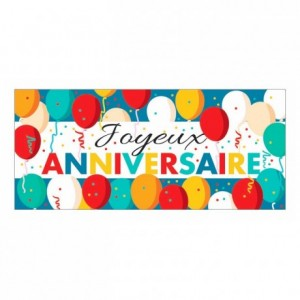 Décor azyme bande « Joyeux Anniversaire » (lot de 24)