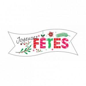 Décor azyme bande «Joyeuses Fêtes » (lot de 24)