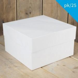 FunCakes Cake Box Blanco 33x33x15cm pk/25
