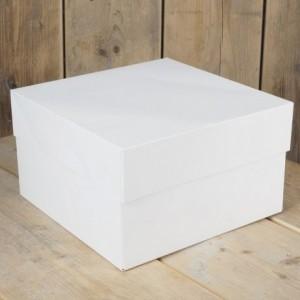 FunCakes Cake Box Blanco 25x25x15cm pk/1
