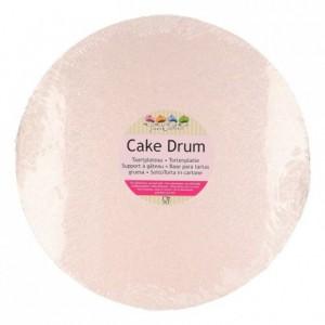 Semelle à gâteau FunCakes rose doré ronde Ø25 cm