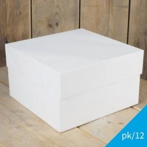 FunCakes Cake Box Blanco 40x40x15cm pk/12