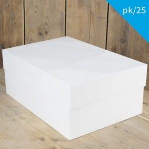 FunCakes Cake Box Blanco 40x30x15cm pk/25