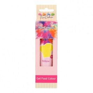 Colorant alimentaire en gel FunCakes Yellow 30 g