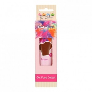 Colorant alimentaire en gel FunCakes Brown 30 g