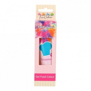 FunCakes Edible FunColours Gel Turquoise 30g