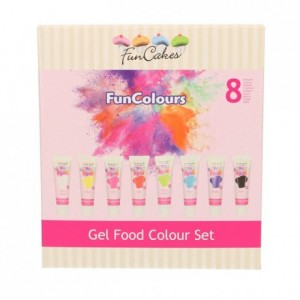 Colorants alimentaires en gel FunCakes kit 8 couleurs