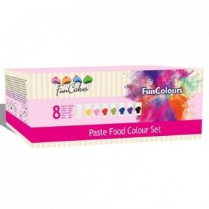 Colorants alimentaires en pâte FunCakes kit 8 couleurs