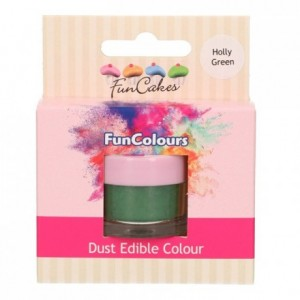 Poudre colorante alimentaire FunColours FunCakes Holly Green