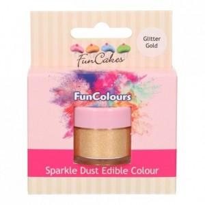 FunCakes Edible FunColours Sparkle Dust Glitter Gold