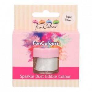FunCakes Edible FunColours Sparkle Dust Light Silver