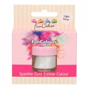 Paillettes alimentaires FunColours FunCakes Light Silver
