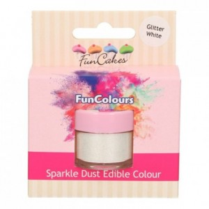 Paillettes alimentaires FunColours FunCakes Glitter White