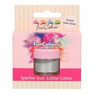 Paillettes alimentaires FunColours FunCakes Glitter DarkSilver