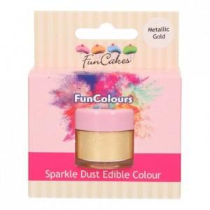 FunCakes Edible FunColours Sparkle Dust Metallic Gold