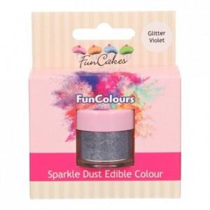 Paillettes alimentaires FunColours FunCakes Glitter Violet