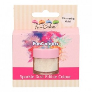 FunCakes Edible FunColours Sparkle Dust Shimmering Gold
