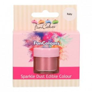 FunCakes Edible FunColours Sparkle Dust Ruby