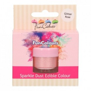 Paillettes alimentaires FunColours FunCakes Glitter Rose