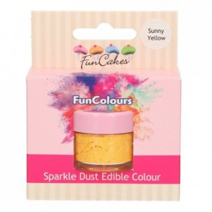 Paillettes alimentaires FunColours FunCakes Sunny Yellow
