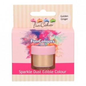 FunCakes Edible FunColours Sparkle Dust Golden Ginger