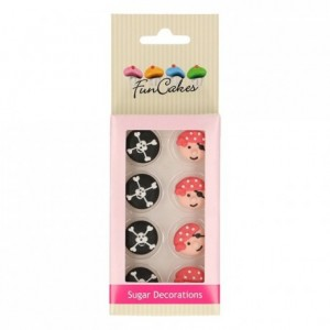 FunCakes Sugar Decorations Pirates Set/8