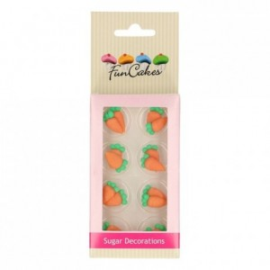 FunCakes Sugar Decorations Carrots Set/16