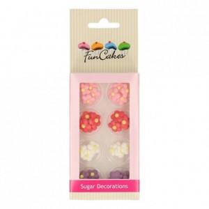 Décors en sucre FunCakes Petites Fleurs 32 pièces
