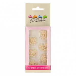FunCakes Marzipan Decorations Chrysanthemum White/Light Pink