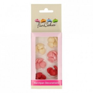 FunCakes Marzipan Decorations Hearts Small Assorti Set/30