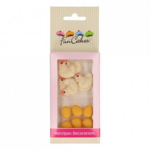 FunCakes Marzipan Decorations Chicken & Egg pk/12
